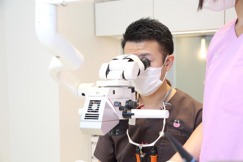 マイクロスコープによる精密治療(東大和市歯医者歯科松本デンタルオフィス)